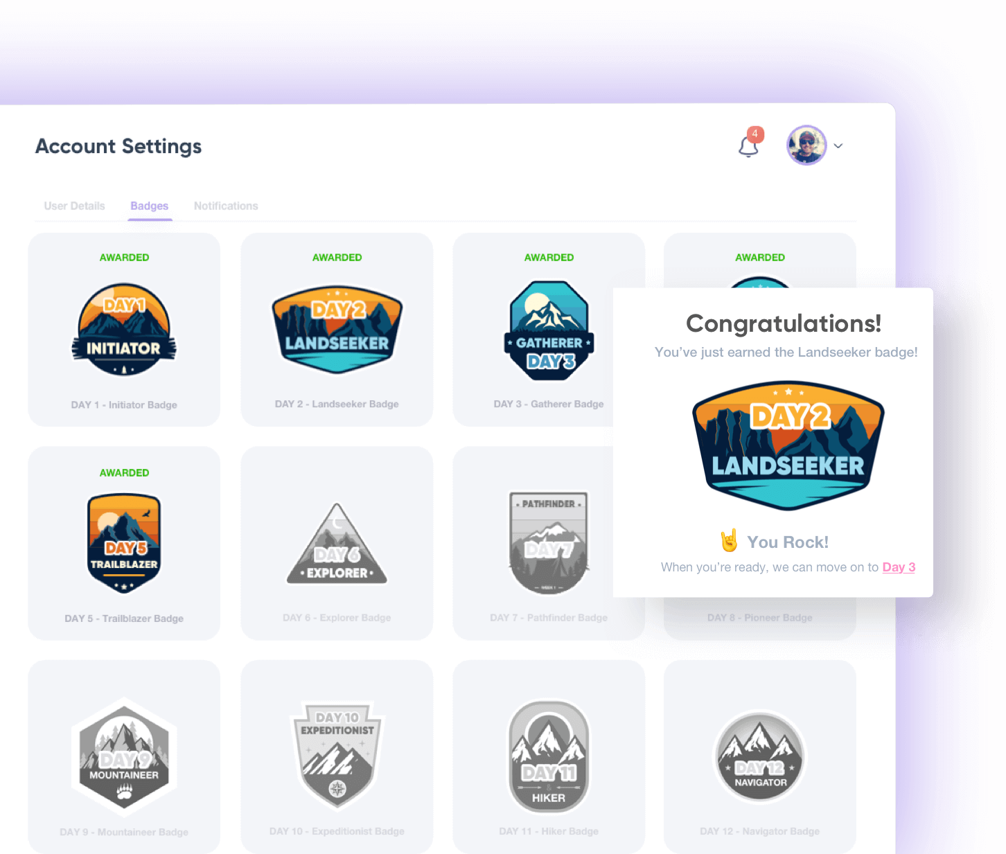 Badges Section Screenshot